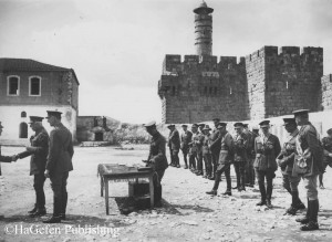 HRH Duke Connaught outside Tower Of David_Jerusalem_Receiving_the salute after decorating officers and men of Allenby's army