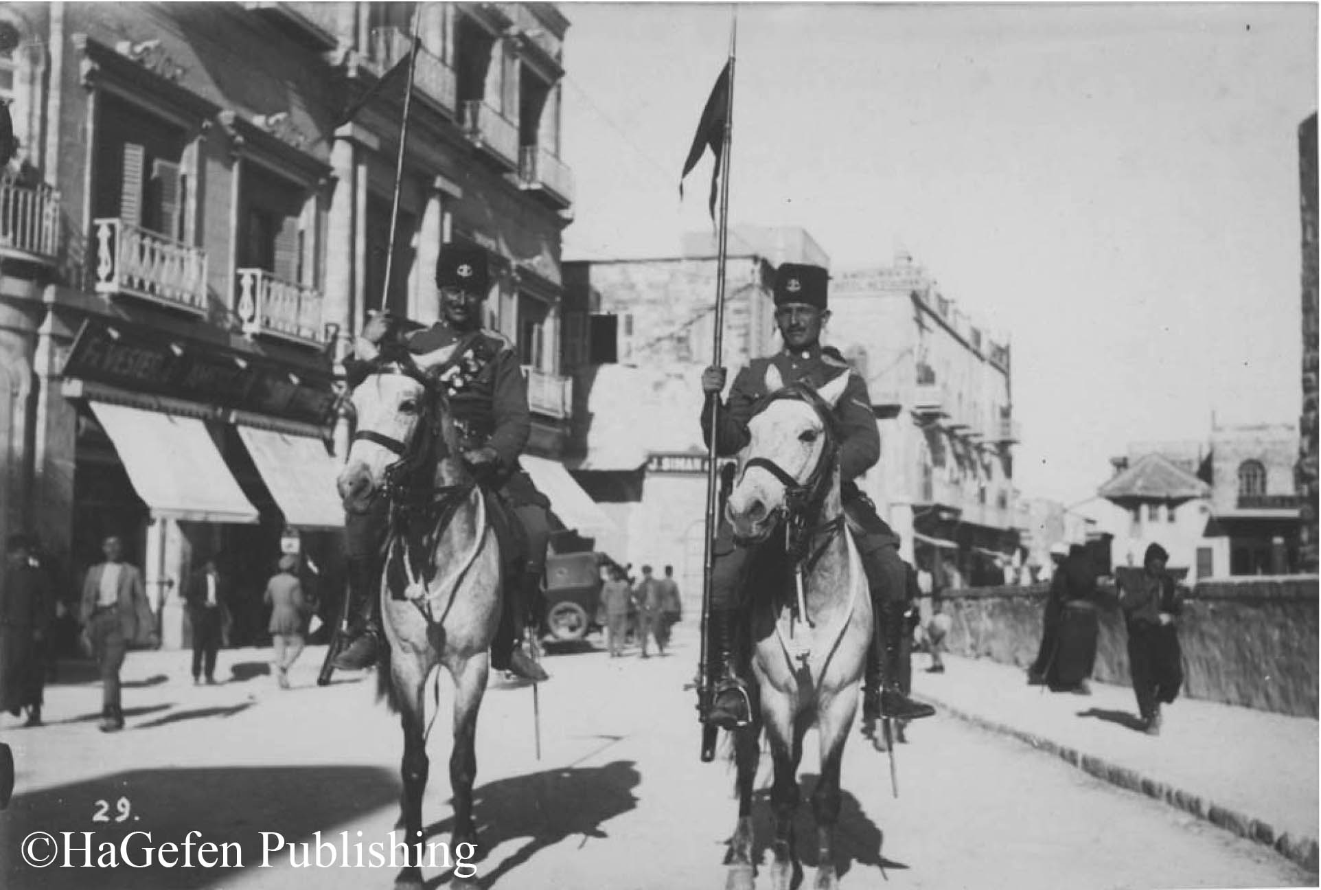 Jewish Mount Police near Jaffa Gate, 1925