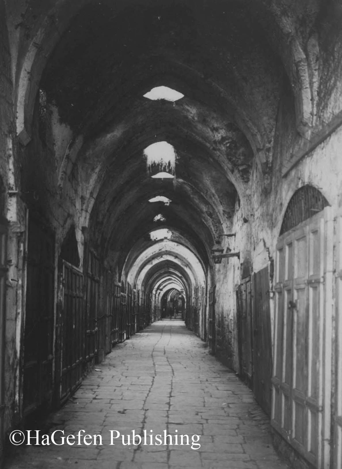 Closed stores in protest of Lord Balfour's arrival in Jerusalem, 1925