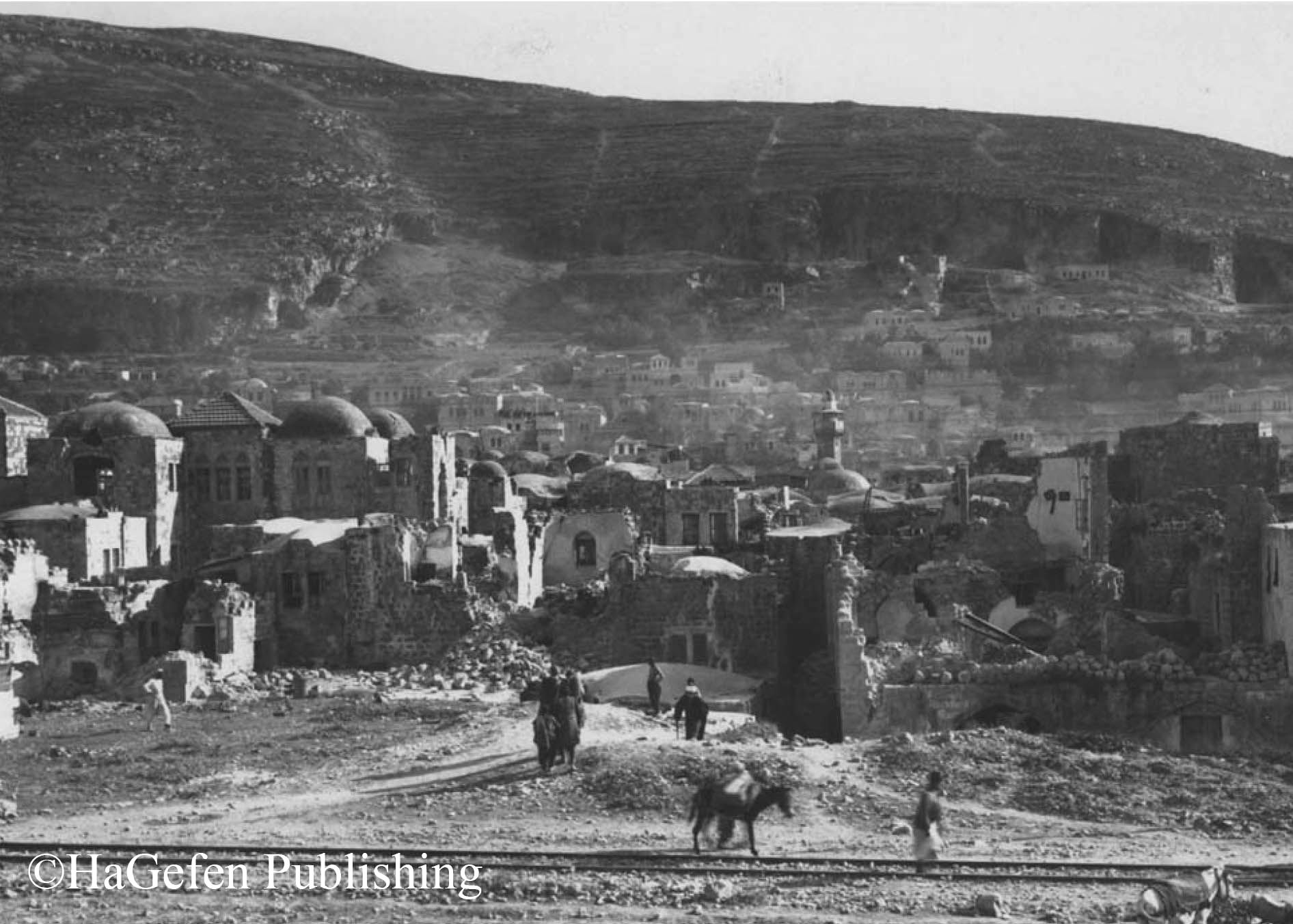 Nablus, the devistated area after earthquake, 11.7.1927