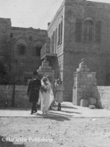 Rev. Rohold leading a bride into Christ Church, 11.10.1922